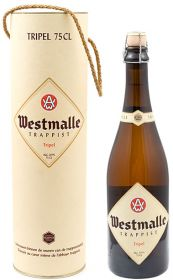 """Пиво """"Westmalle Trappist Tripel """" 0.75 л в подарочной тубе"""