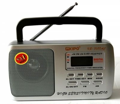 Радиоприёмник KIPO KB-7088 р/п сет+цифр