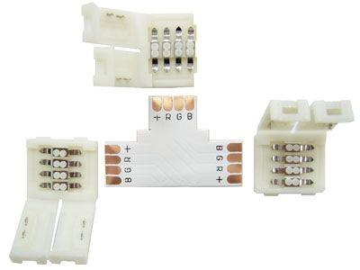 Коннектор для LED ленты RGB Огонёк TD-72 (гн-гн-гн Т-образный)