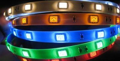Светодиодная лента Огонёк 5050 (IP65, RGB,цвет, 60 св/м)