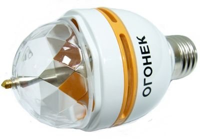 Лампа LED RGB, вращ.(MINI) Огонёк LD-113