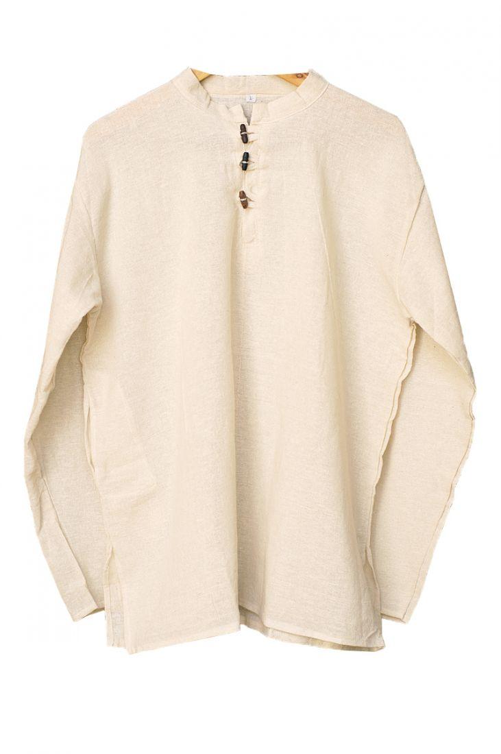 Светлая мужская рубаха из органического хлопка (отправка из Индии)