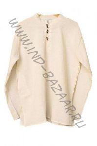 Светлая мужская рубаха из органического хлопка