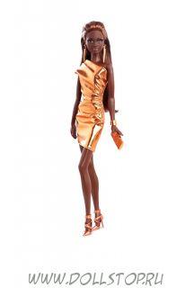 Коллекционная кукла Барби Бронзовое платье (Городское сияние) - The Barbie Look  Collection, City Shine  Barbie Doll - Bronze Dress