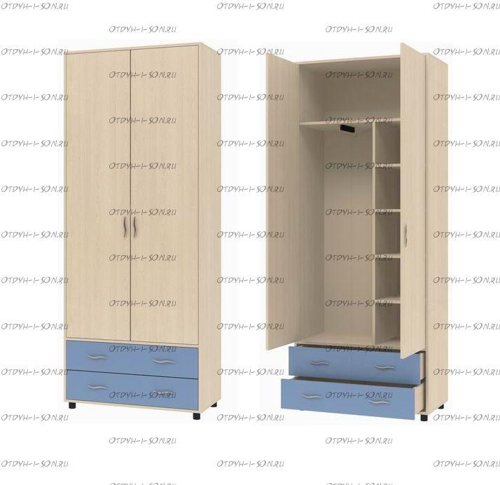 Шкаф двухдверный Дельта-4 (88х43х216)