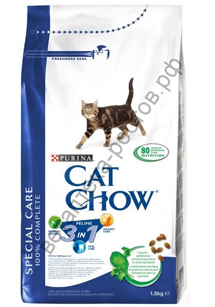 Cat Chow Special Care 3 in 1, 1,5 кг. + 500 гр. бесплатно