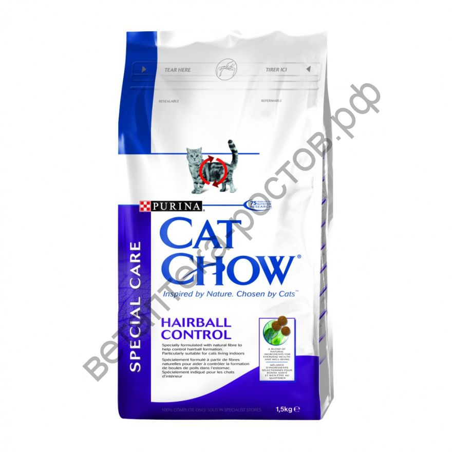 Cat Chow Special Care Hairball Control, 1,5 кг. + 500 гр. бесплатно