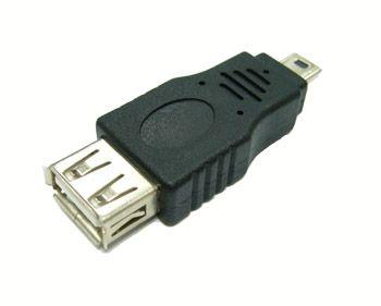 Переходник USB Орбита SB-1012  (штекер mini USB-гнездо USB)