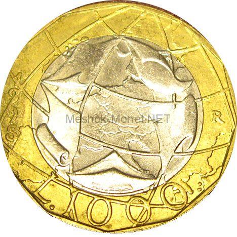 Италия 1000 лир 1998 г.