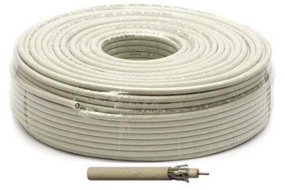 Антенный кабель ТВ RG-6U Electronics 64% (белый) 100м