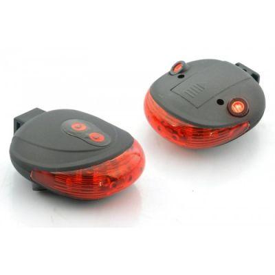 Фонарик-лазер велосипедный Следопыт BL-000 (5 светодиодов + 2 лазера)