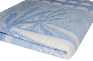 Бело-синее детское байковое одеяло