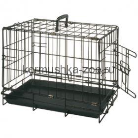 Flamingo Клетка для собак черная, с 1 дверью 47*30*37