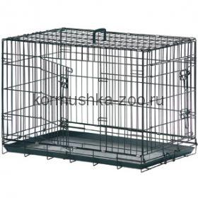 Flamingo Клетка для собак черная, 2 двери
