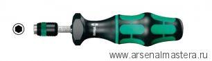 7430 WERA Kraftform Регулируемая динамометрическая отвертка (0,1-3,0 Нм) с быстрозажимным патроном Rapidaptor, 1/4 дюйм, 0,10 - 0,34 Nm