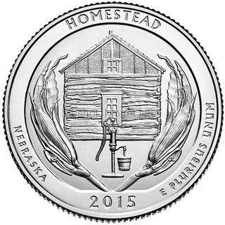 25 центов США 2015 Национальный монумент Гомстед (Homestead)