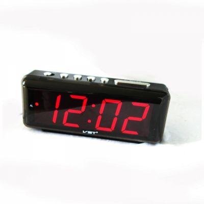 VST762-1 часы 220В крас.цифры