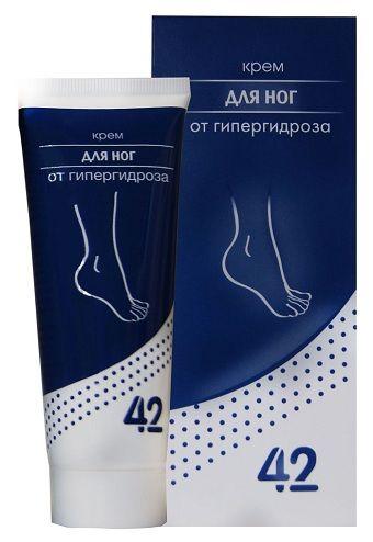 """Крем для ног от гипергидроза """"42"""""""