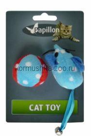 Papillon плюшевая мышь с мячом