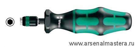 Регулируемая динамометрическая отвертка WERA Kraftform с предварительной настройкой с быстрозажимным патроном Rapidaptor Nm 0,10-0,34 Серия 7400