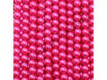 бусины жемчужные 6 мм малиновые 100шт