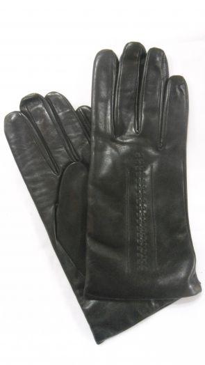 Перчатки зимние кожаные мужские HRAD 0032 black