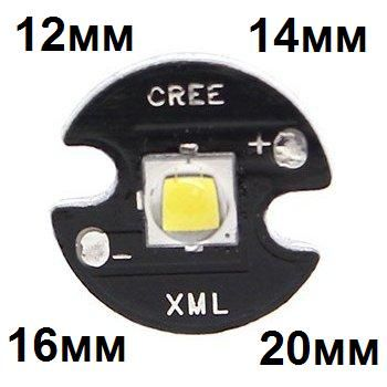 Светодиод Cree XM-L2, 1052 Лм, нейтральный белый свет