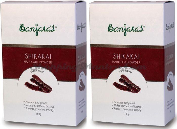 Мыльные бобы Шикакай натуральный шампунь Банджарас / Banjara's Shikakai Powder
