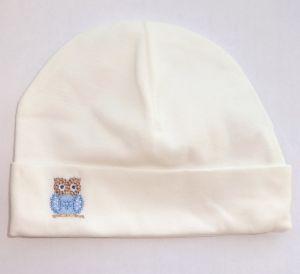 белую шапку для новорожденного