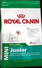 Royal Canin mini junior для щенков собак мелких (до10 кг.) размеров до 10 мес. 4 кг.
