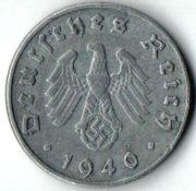 10 рейхcпфеннигов. 1940 год. D. Германия.