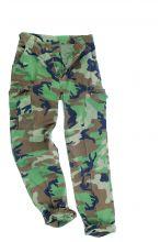 брюки  TYP BDU R/S CO PREWASH WOODLAND - 100% хлопок