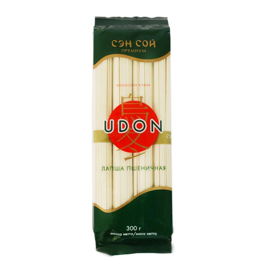 СЭН-СОЙ Пшеничная лапша «UDON» УДОН пакет 300гр