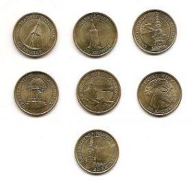 Маяки набор  монет 20 крон  Дания 2003-2007