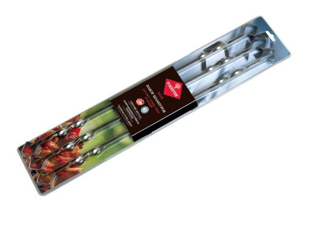 FORESTER Набор шампуров больших в блистере (6шт), никелированная сталь