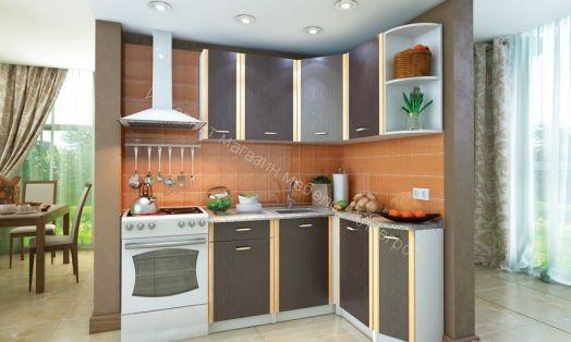 Кухня Бланка правая (Венге/Белый)