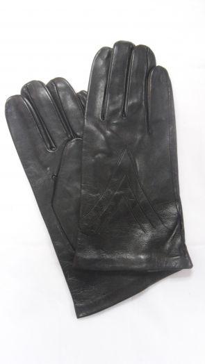 Перчатки демисезонные кожаные мужские HRAD 9831 blk