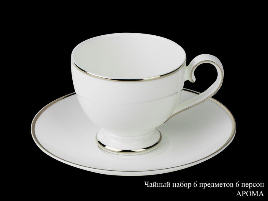 "Чайный набор на 6 персон ""Арома"", 12 пр."