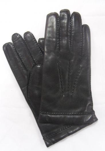 Перчатки зимние кожаные мужские HRAD 9132 black