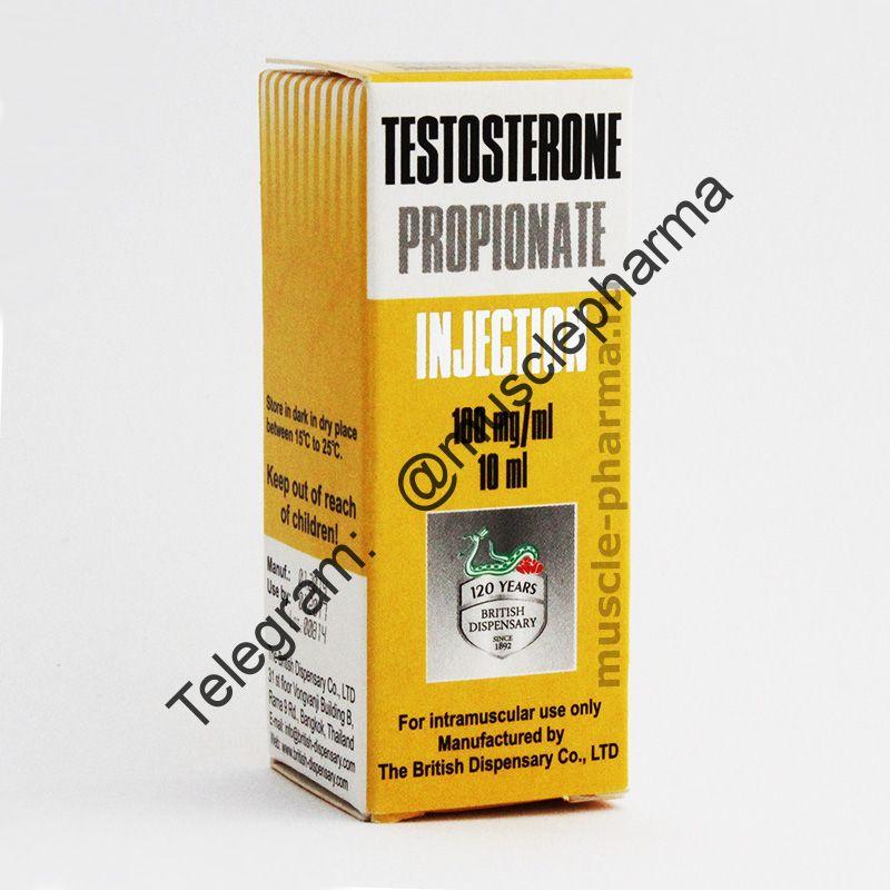 TESTOSTERONE PROPIONAT (BRITISH DISPENSARY). 1 флакон * 10 мл
