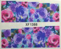 Водная наклейка для дизайна ногтей XF 1388