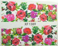 Водная наклейка для дизайна ногтей XF 1389