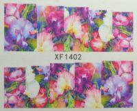 Водная наклейка для дизайна ногтей XF 1402