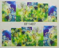 Водная наклейка для дизайна ногтей XF 1407