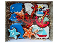 Наборы подарков «Море»  Имбирные пряники ручной работы