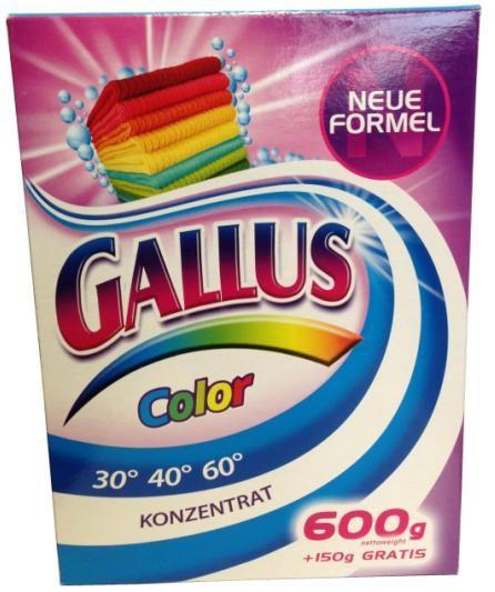 Gallus Концентрированный стиральный порошок для цветного белья 8 стирок 750 г