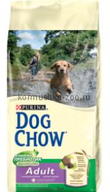 Dog Chow для взрослых собак с ягненком и рисом