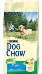 Dog Chow для щенков крупных пород с индейкой