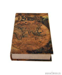 Книга - шкатулка путешественника подарочная (пустая)