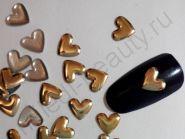 Фигурки металлические - сердечки. Цвет: золото.